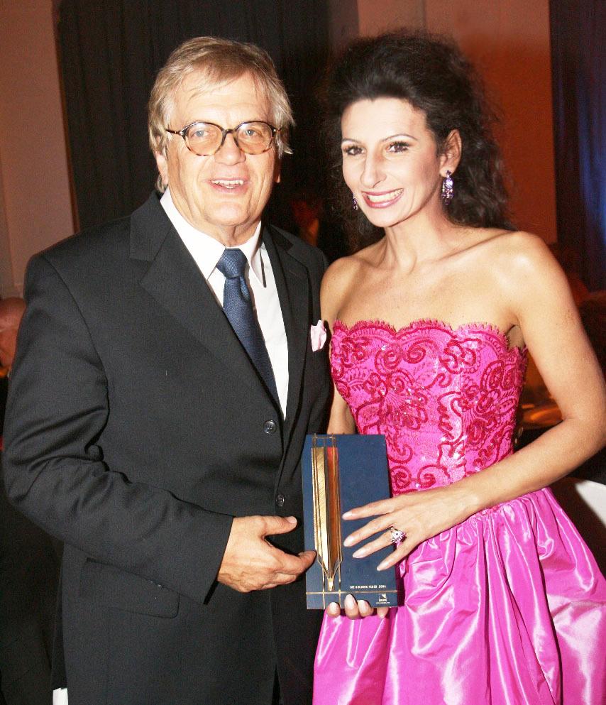 Lucia Aliberti col direttore e pianista Justus Franz,Special Gala Concert