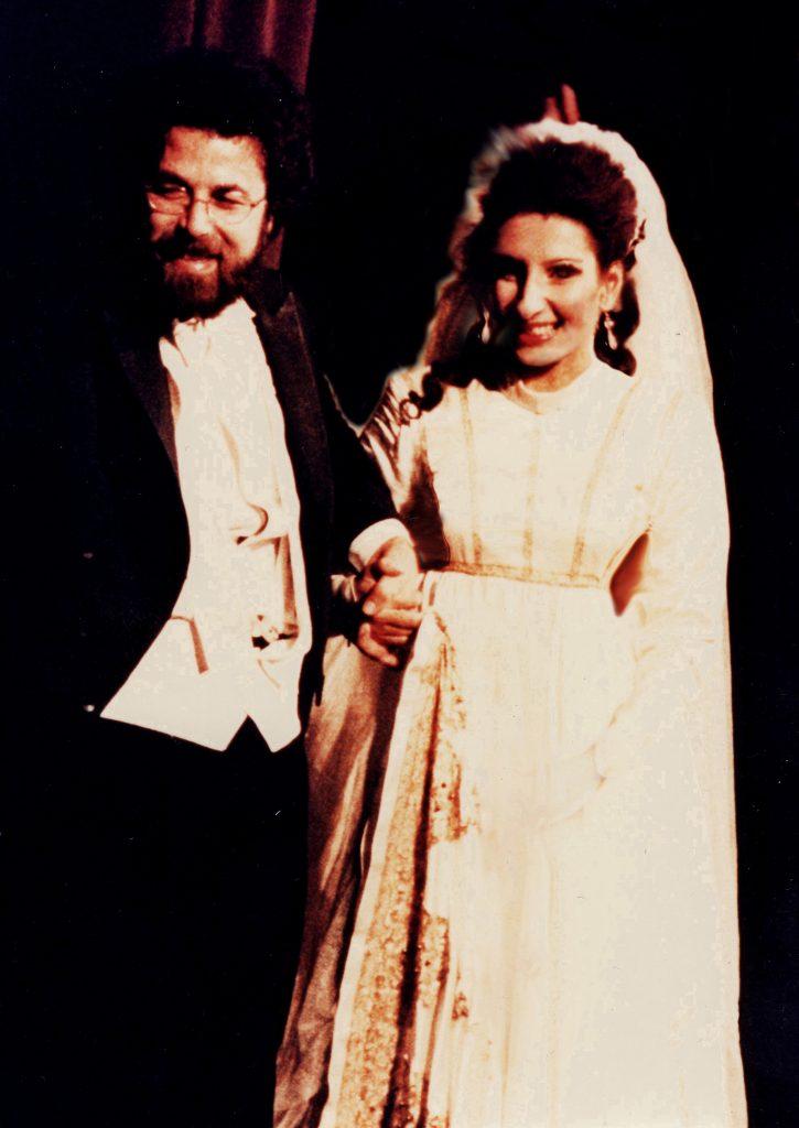 Lucia Aliberti with the conductor Giuseppe Sinopoli⚘on stage⚘Opera⚘_Simone Boccanegra_⚘Deutsche Oper⚘Berlin⚘