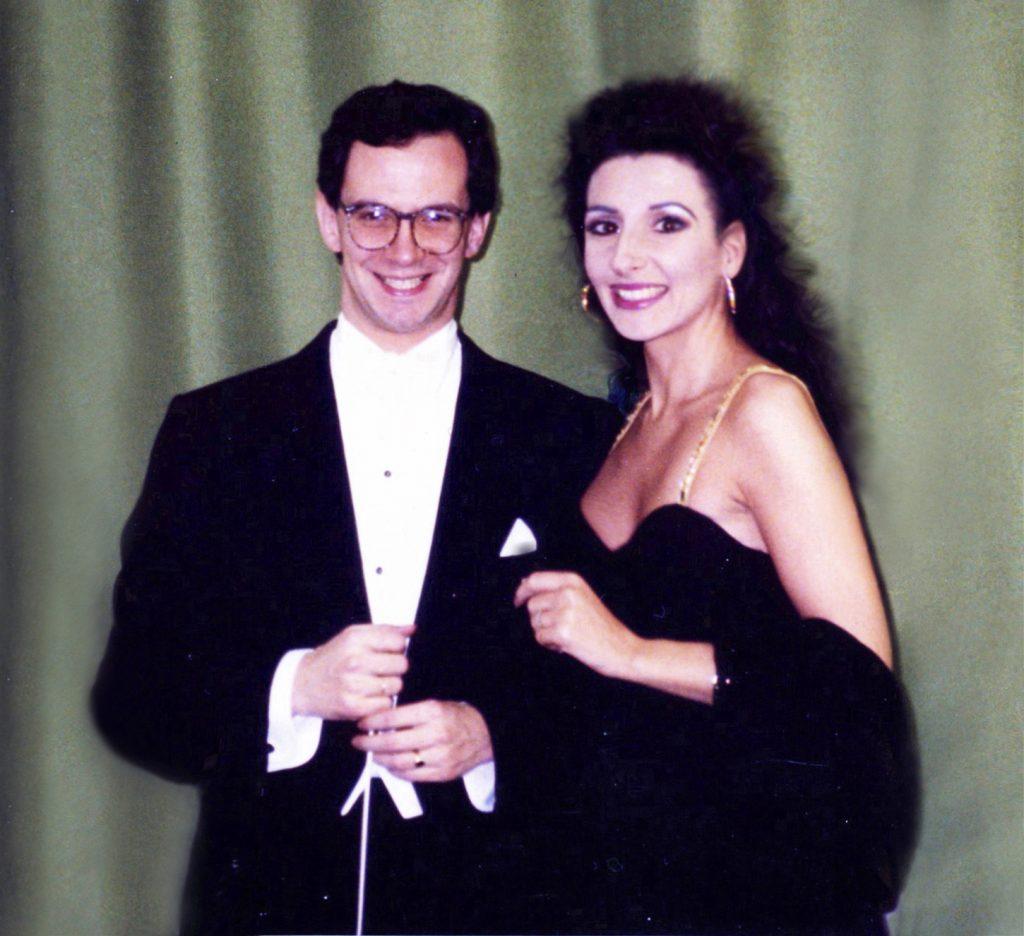 Lucia Aliberti with the conductor Fabio Luisi⚘Opera⚘_Beatrice Di Tenda_⚘Deutsche Oper⚘Berlin⚘